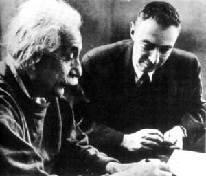 "Robert Oppenheimer (left), who famously declared ""Here's your damn organization chart,"" while working on the Manhattan Project, may not have been the best project manager, but at least he got to hang out with Einstein (Image: Wikimedia Commons)"