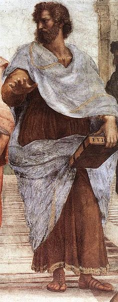 Aristotle by Raphael (via Wikimedia Commons)